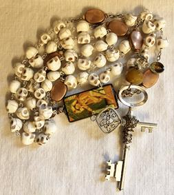 Catholic Rosary, Dia De Los Muertos, Day of the Dead, All Souls Rosary, Christian, prayer beads