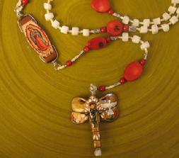 Handmade Catholic Rosary, Our lady of Guadalupe